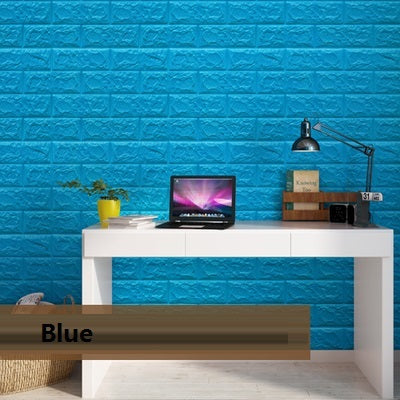 Foam 3D Wall Stickers Brick Pattern Waterproof Self Adhesive Wallpaper Room Home Decor For Kids Bedroom Living Room Stickers