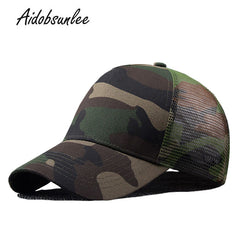 2017 New Arrival MEN'S HATS Men Camo Baseball Caps Mesh for Sprin