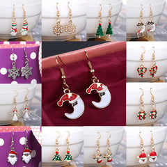 Crystal Snowman Dangle Earrings Muti-Color Ear Earrings For Women Girls Fashion Jewelry