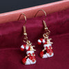 Image of Crystal Snowman Dangle Earrings Muti-Color Ear Earrings For Women Girls Fashion Jewelry