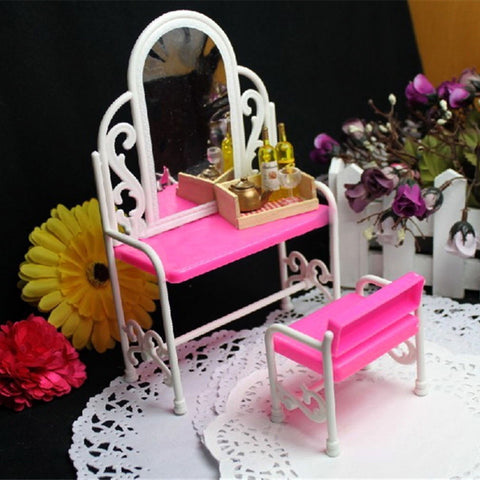 Dollhouse Furniture Girls Children Cosmetics Toy Dressing Table S