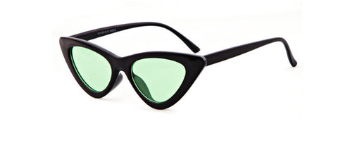 Black Small Triangle Cat Eye Frame Sunglasses Women UV400 Retro W
