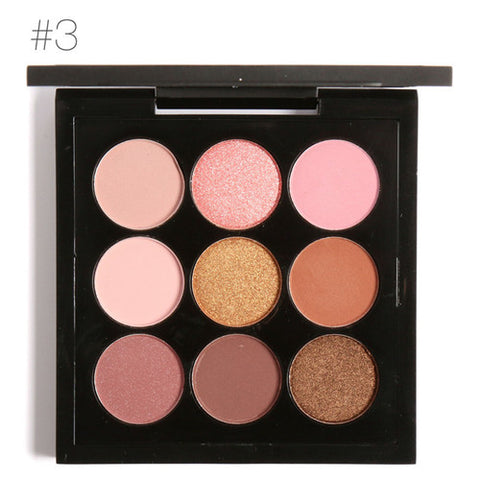 Infinite Charm 9 Color Matte Shimmer Eyeshadow Palette Professional Naked Makeup Smoky Shining Eye Shadow Cosmetics