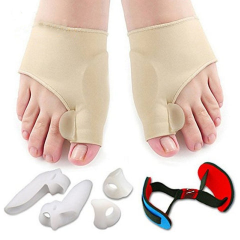 New 7pcs/set Soft Bunion Protector Toe Straightener Separating Silicone Thumb Feet Care Foot Pain