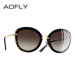 AOFLY BRAND DESIGN Fashion Ladies Cat Eye Sunglasses Metal Legs P