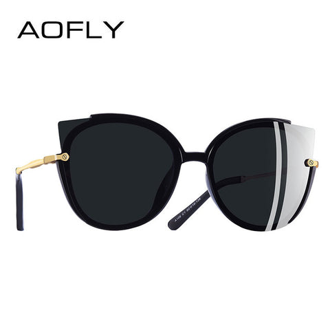 AOFLY BRAND DESIGN Fashion Lady Polarized Sunglasses Women Unique