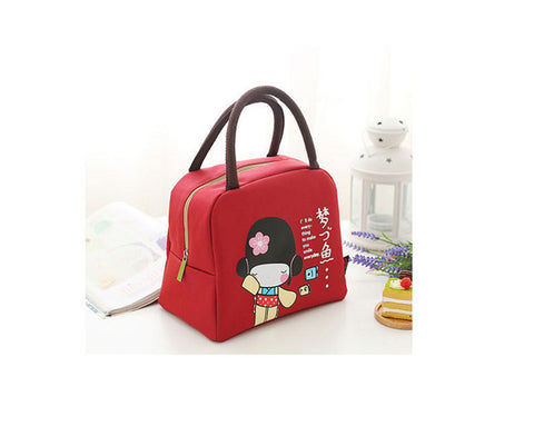 Insulated Canvas Lunch Bag Thermal Portable Food Picnic Lunch Bags Tote Travel Food Carry BagHome Kitchen Storage Bags
