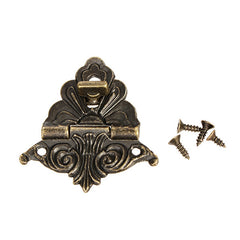 1pc Box Buckle Clasp Antique Buckle Alloy Buckle Box Wooden Wine