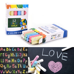 12Pcs/set 6 Colors New Dustless Chalk Stationary Office School Su