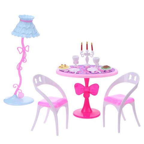21pcs/Set Doll Candlelight Dinner Tools for Barbies 29cm Doll Min