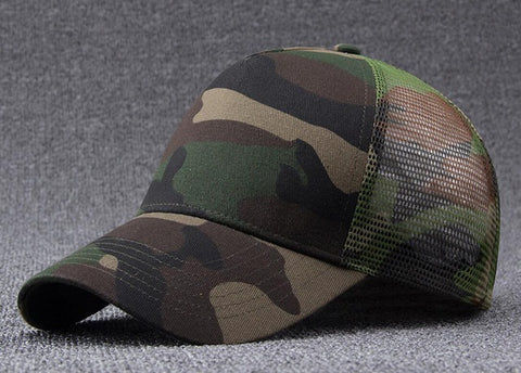 NEW Men Camo Mesh Baseball Caps for Spring Summer Outdoor Jungle