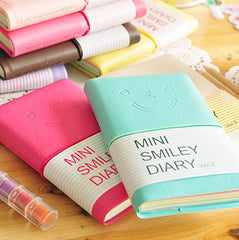 Paper Colorful Mini Smile Planners Kawaii Journal Diary Notebook