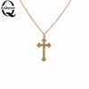 Image of Small Gold Cross Pendant Necklace Women Girl Kids,Mini Charm Pend