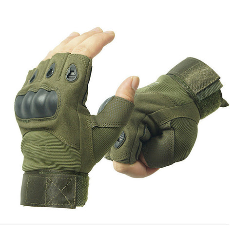 Half finger Gloves Men's Army Combat Hunting Shooting Airsoft Pai