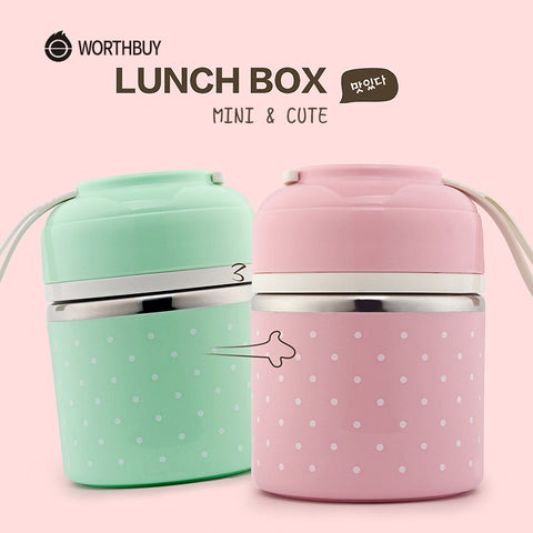 Thermal Lunch Box Leak-Proof Stainless Steel Bento Box Kids Porta