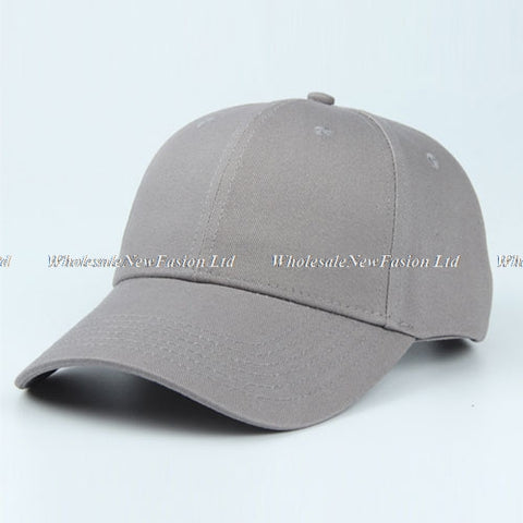 10pcs Quality Blank Brown Cotton Baseball Hat NEW Womens White Ba