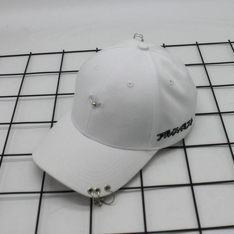2017 New Creative Hight Quality Piercing NY Ring Baseball Cap Pun