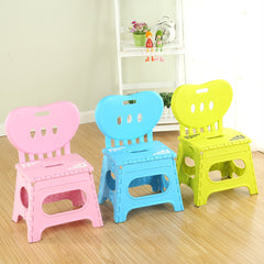 Multifunctional folding stool plastic backrest portable home chai