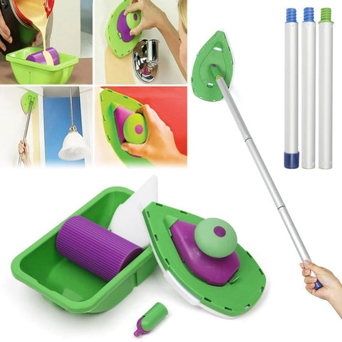 Point And Paint Roller and Tray Set Household Painting Brush Deco
