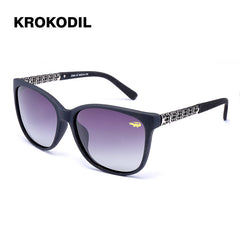 Krokodil New Fashion Cat Eye Sunglasses Women White Frame Gradien