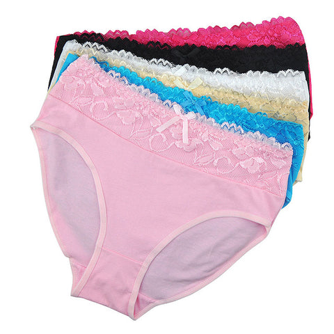 LOBBPAJA Lot 6 pcs Woman Underwear Cotton High Waist Plus Size Br
