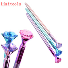 Kawaii Ballpoint Pen Big Gem Metal Ball Pen With Large Diamond Ma