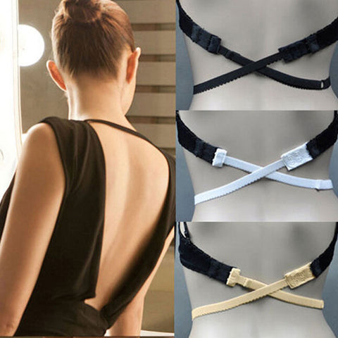 New Fashion Back Backless Bra Strap Adapter Converter Fully Adjus