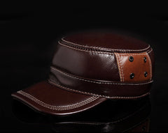 men fashion adjustable combined color genuine full grain cow leat