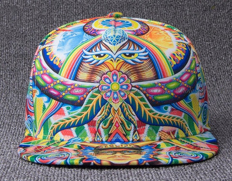 5pcs/lot Unique Printing Flatbill Snap Back Caps Spring Autumn Me