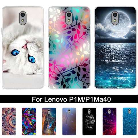 timeless design be01c 7812f TPU Case Cover for Lenovo vibe P1M Print Silicone Back Phone Shel