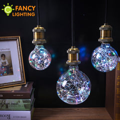 Holiday lights rgb led bulb christmas string light indoor e27 110