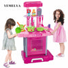 Image of Simulation kitchen kitchen cutlery educational toys suitcase chil