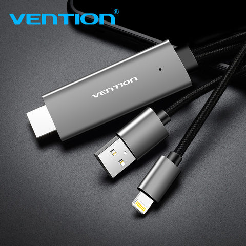 Vention HDMI Cable 2M USB to HDMI Converter Cable for iPhone 8 Pi