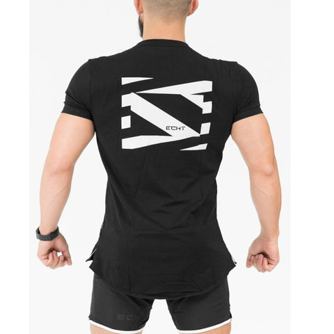 New Arrival 2018 men Designer T Shirt Casual Quick Dry Slim Fit M