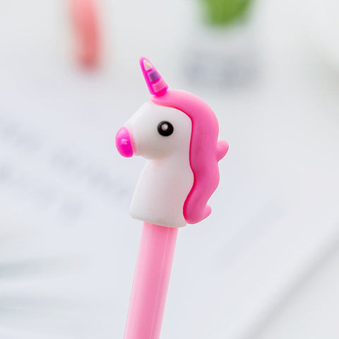 1 pcs 4 colors 0.5mm Creative unicorn Gel Pen Signature Pen Escol