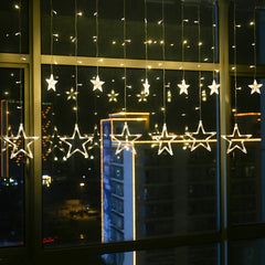Holiday Lighting LED Fairy Star Curtain String luminarias Garland