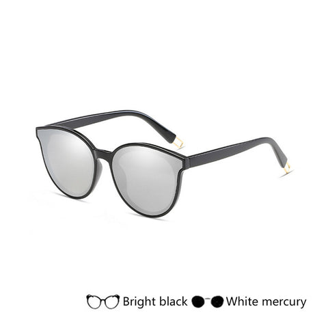 New High Quality Cat Eye Sunglasses Women Sun Glasses Flat Top Su