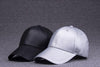 Image of 6pcs COOL Men Blank PU Leather Black Baseball Caps Snap Back for