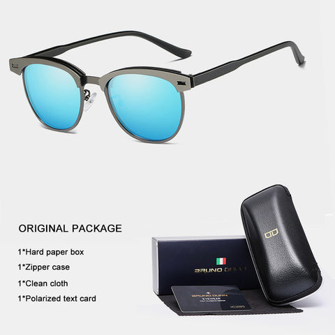 New Driving Aluminum Clubmast Polarized Sunglasses Men Women 2018