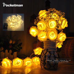 Fashion Holiday Lighting 20 LED Novelty Rose Flower Fairy String