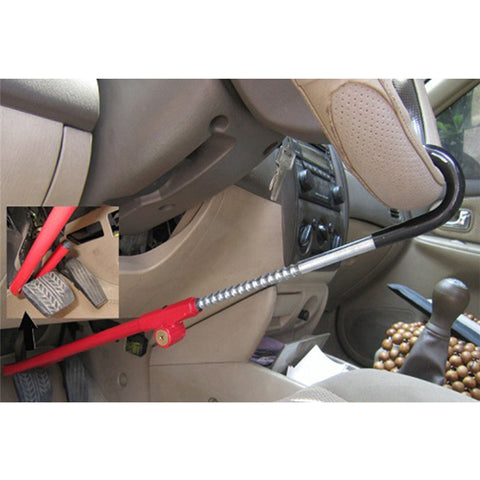 Encell TS20 Universal Car Folding Steering Wheel Lock Red Stainle