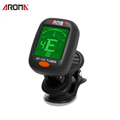 AROMA AT-101 Digital Clip-on Electric Guitar Tuner Foldable Rotat