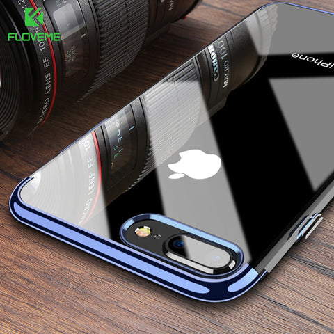 Original TPU Case For iPhone X 8 7 6 Cases Luxury Plated Clear Silicon Cover For iPhone 8 7 6s Plus Transparent Capinhas