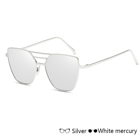 CANCHANGE Fashion Cat Eye Sunglasses Women Men Casual Unisex Mirr