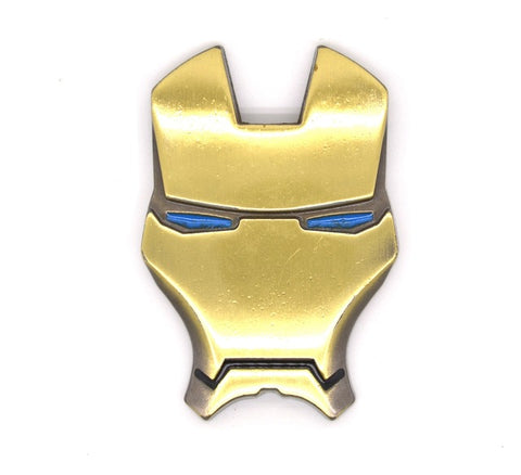 3D Chrome Metal Iron Man Car Emblem Stickers Decoration The Aveng