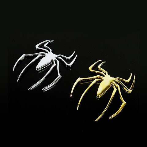 car accessories Car Stickers Retro Fashion Solid Metal Spider 3D
