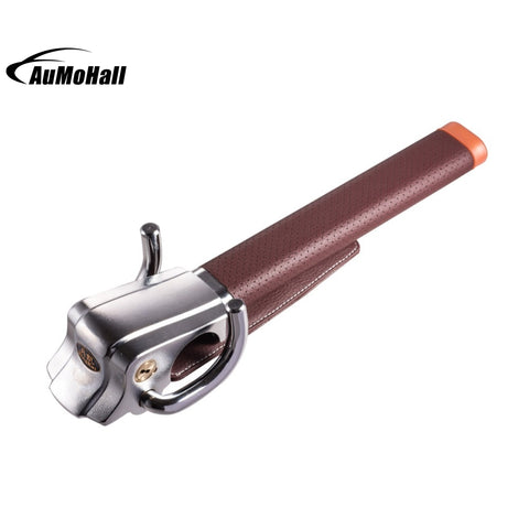 Brown Foldable Car Steering Wheel Lock Anti-theft Three-direction