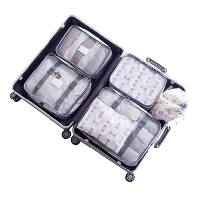 Mihawk 8Pcs Travel Bags Sets Packing Cube Clothing Sorting Organi