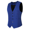 Image of Plus Size 6XL Men's Suit Vest Fashion Solid Slim Fit Wedding Waistcoat Sleeveless Men Dress Vests