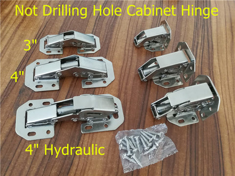 90 Degree Not Drilling Hole Cabinet Hinge Hydraulic  Cabinet Cupb